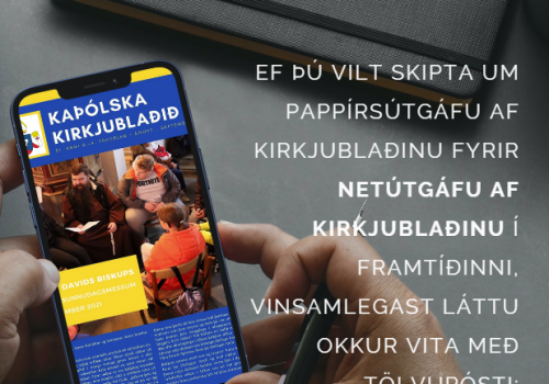 tilkynning v kirkjublaðsins